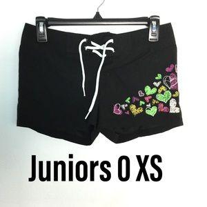 Lilu Juniors 0 Swim Trunks Boxers Shorts Black New